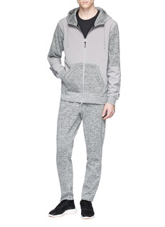 Adidas x Reigning champ marled panel zip hoodie