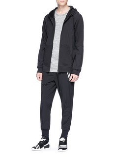 Adidas x Reigning Champ panelled zip hoodie