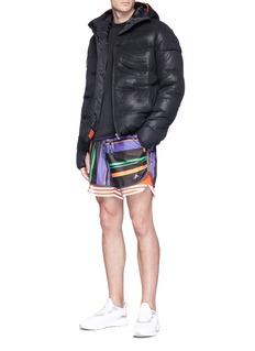 Adidas X Kolor Mesh overlay down puffer jacket