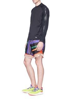 Adidas X Kolor 'Hybrid' Climaheat® long sleeve performance T-shirt