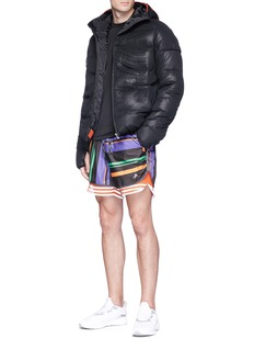 Adidas X Kolor 'AOP' stripe track shorts