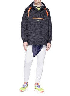 Adidas X Kolor 'Emboss' performance hoodie