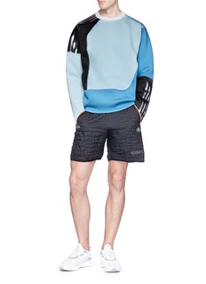 Adidas X Kolor 'Spacer Crew' colourblock neoprene sweatshirt