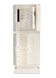 Agresti Armoured jewellery armoire – White