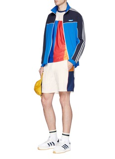 adidas By Pharrell Williams 'New York' colourblock climalite® piqué T-shirt