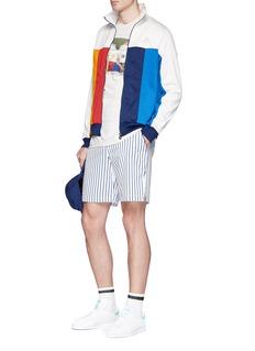 adidas By Pharrell Williams 'New York' stripe climacool® twill shorts