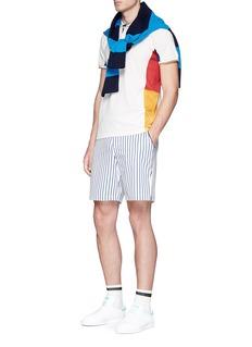 adidas By Pharrell Williams 'New York' colourblock climacool® mesh polo shirt