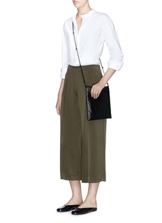 Theory 'Zavabell' silk satin culottes