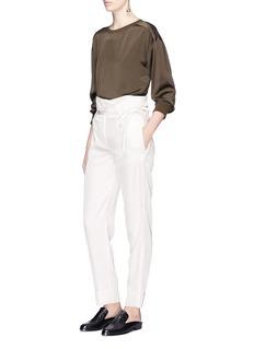 Theory'Gunilla' paperbag waist belted gabardine pants