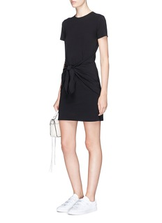 Theory 'Dakui' front tie T-shirt dress