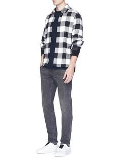 James Perse Colourblock raglan long sleeve T-shirt