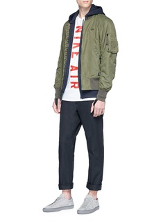 Nike Ruched sleeve padded bomber jacket