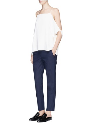 Figure View - Click To Enlarge - Theory - 'Thaniel' cropped twill pants
