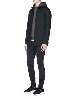 Y-3 Tape dart zip shirt