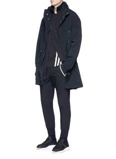 Y-3 Asymmetric zip long track jacket