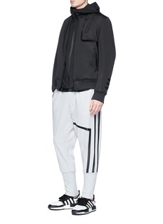 Y-3 3-Stripes tape ribbed panel sweatpants