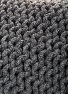 mikmax Knitt throw –Grey Granite