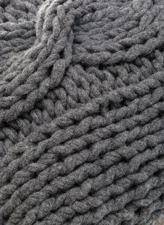 mikmax Knitt cushion – Grey Granite