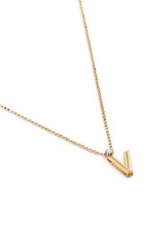 Roberto Coin 'Love Letter' diamond 18k yellow gold pendant necklace – V