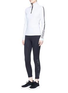 Fendi Sport 'Karlito' print cropped performance leggings