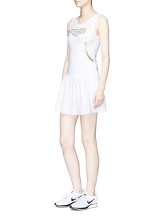 Fendi Sport Logo print mesh panel performance dress