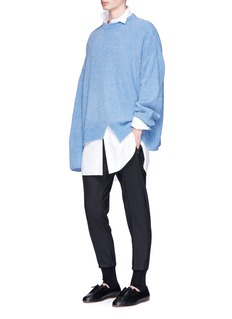 Wooyoungmi Asymmetric hem oversized rib knit sweater