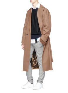 Wooyoungmi Wool twill trench coat