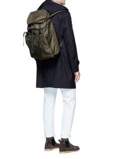 Lorinza Buckled ballistic nylon drawstring backpack