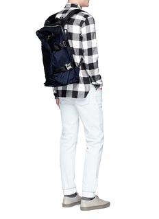 Lorinza Buckled ballistic nylon backpack