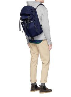 Lorinza Buckled drawstring backpack