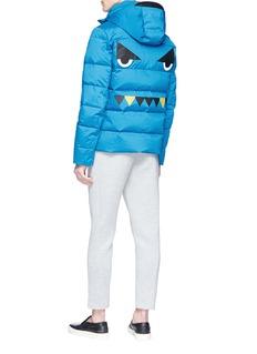 Fendi Sport 'Bag Bugs' patch down puffer jacket