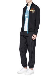 Fendi Sport Slogan patch track jacket