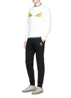 Fendi Sport Logo patch slim fit sweatpants