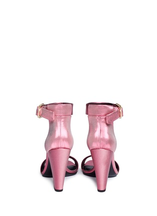 Back View - Click To Enlarge - Stella Luna - 'Summer Evening' buckled lamé sandals