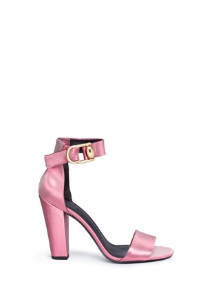 Main View - Click To Enlarge - Stella Luna - 'Summer Evening' buckled lamé sandals