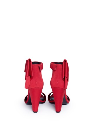 Back View - Click To Enlarge - Stella Luna - Ankle bow grosgrain sandals