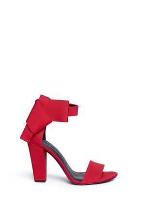 Main View - Click To Enlarge - Stella Luna - Ankle bow grosgrain sandals