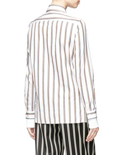 Aalto Detachable collar double sleeves stripe shirt