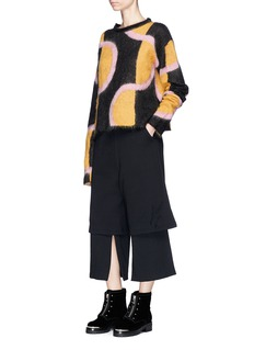 Aalto Drawstring layered cotton jersey culottes