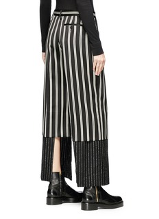 Aalto Panelled cuff underlay stripe virgin wool pants
