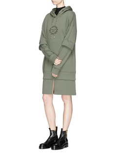 Aalto 'Paradise Lost' layered oversized hoodie dress