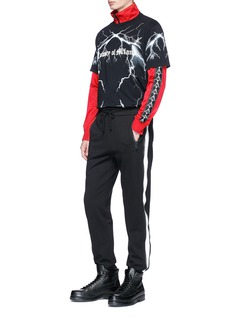 Marcelo Burlon x Kappa logo embroidered track jacket