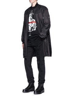 Marcelo Burlon 'Wenjen' eagle embroidered padded coat