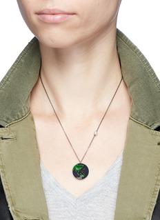 Astley Clarke'Eastern Earth' sapphire freshwater pearl 14k white gold pendant necklace