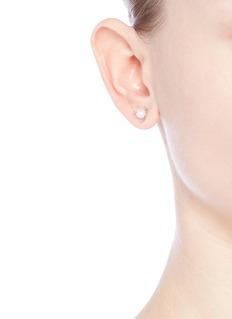 Astley Clarke 'White Pearl Pluto' diamond freshwater pearl 14k white gold stud earrings
