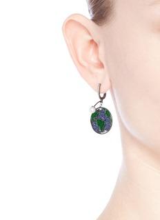 Astley Clarke 'Earth' sapphire freshwater pearl 14k white gold drop earrings