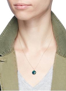 Astley Clarke'Opal Uranus' diamond 14k yellow gold pendant necklace