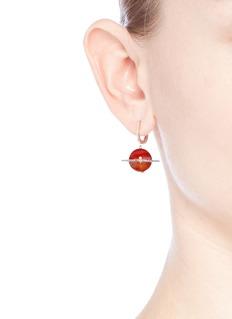 Astley Clarke 'Agate Saturn' diamond 14k rose gold drop earrings