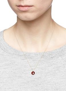Astley Clarke'Garnet Mercury' diamond 14k yellow gold pendant necklace