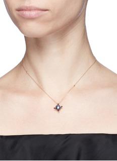 Astley Clarke'Black Pearl Pluto' diamond 14k rose gold pendant necklace